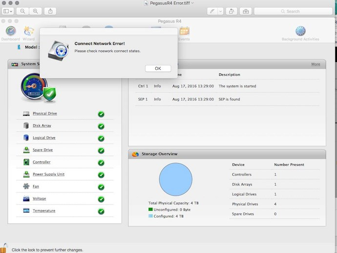 Pegasus R4 firmware update and compatibility with Mac El Capitan